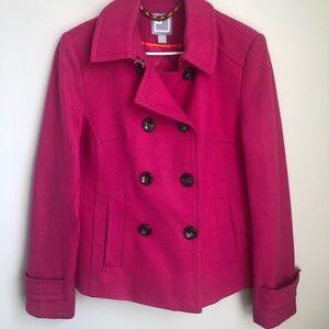 Pink Wool Peacoat